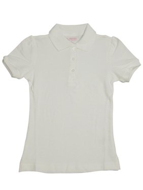 French Toast Girls 4-6X Short Sleeve Pique Polo (Burgundy 5)