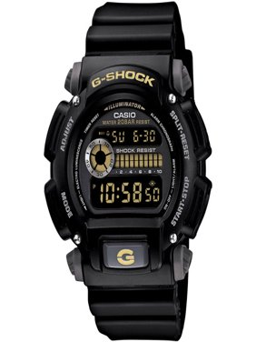 Men's G-Shock Watch With Backlight, Black Resin Strap