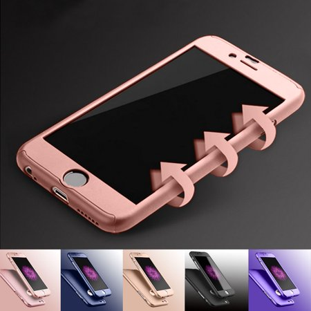 Full Body Protection - Apple iPhone 6 Plus / iPhone 6S Plus Cell Phone Cases, Njjex Full Body Coverage Protection Hard Slim With Tempered Glass Screen Protector Skin Case Cover For iPhone 6 Plus / 6S Plus