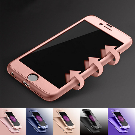 Apple iPhone 6 Plus / iPhone 6S Plus Cell Phone Cases, Njjex Full Body Coverage Protection Hard Slim With Tempered Glass Screen Protector Skin Case Cover For iPhone 6 Plus (Phone Faceplate Protector Cover Case)