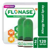 Flonase 24hr Allergy Relief Nasal Spray, Full Prescription Strength, 240 sprays (Twinpack of 120 sprays)