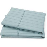 100% Cotton 420-Thread Count Dobby Stripe 2-Piece Pillow Case Set Collection