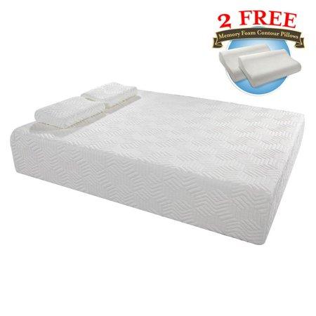 """Ktaxon 14"""" Three Layers Queen Cool Memory Firm GEL Foam Mattress Room w/ 2 Pillows"""