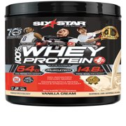 Six Star Pro Nutrition Elite Series 100% Whey Protein Powder, Vanilla Cream, 20g Protein, 2 Lb
