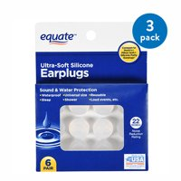 (3 Pack) Equate Ultra-Soft Silicone Earplugs, 6 Pair