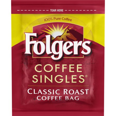 Folgers Coffee Singles Classic Roast Coffee Bags, 38 Count