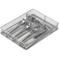 Honey-Can-Do 5-compartment Steel Mesh Cutlery Tray