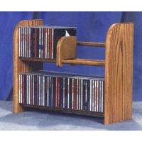 Wood Shed 200 Series 84 CD Multimedia Tabletop Storage Rack