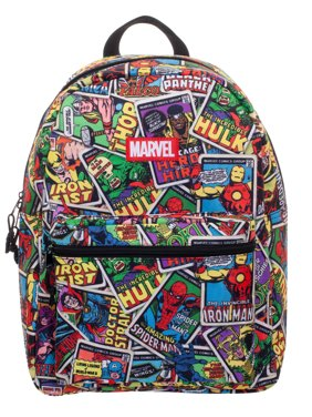 "Marvel Comics Classic Comic Book Covers 16"" Backpack"