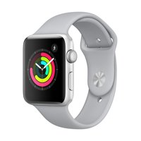 Refurbished Apple Watch - Series 3 - 42mm - Silver Aluminum Case - Fog Sport Band