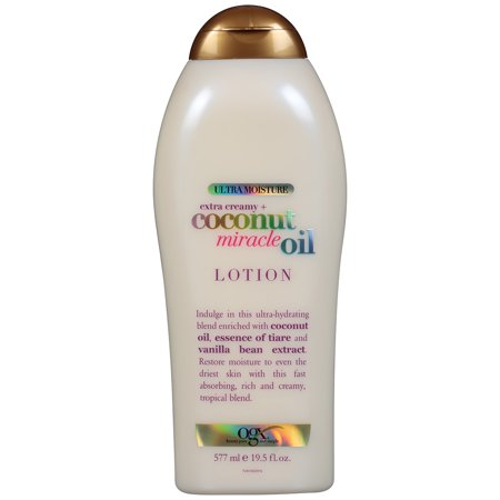 OGX Extra Creamy + Coconut Miracle Oil Ultra Moisture Lotion, 19.5 (Extra Creamy)
