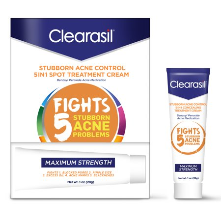 Clearasil Stubborn Acne Control 5in1 Spot Treatment Cream,