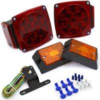 12V LED Submersible Trailer Light Kit DOT Waterproof