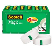 Scotch Magic Tape 6 Pack, 3/4 in. x 800 in., 6 Boxes/Pack