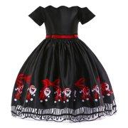 9959bbde Iuhan Toddler Kids Baby Girls Santa Print Princess Dress Christmas Outfits  Clothes