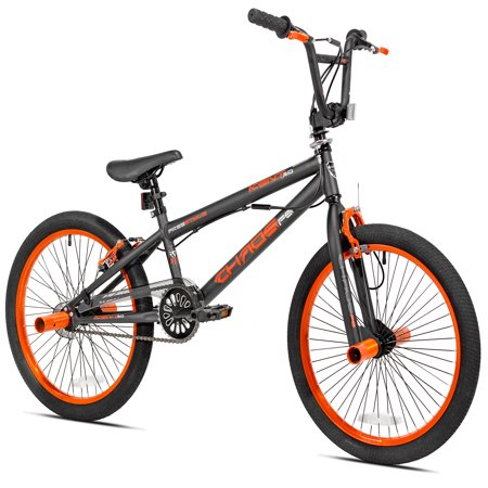 """Kent 20"""" Boys', Chaos Bike, Matte Gray/Orange, For Height Sizes 4'2"""" and Up"""
