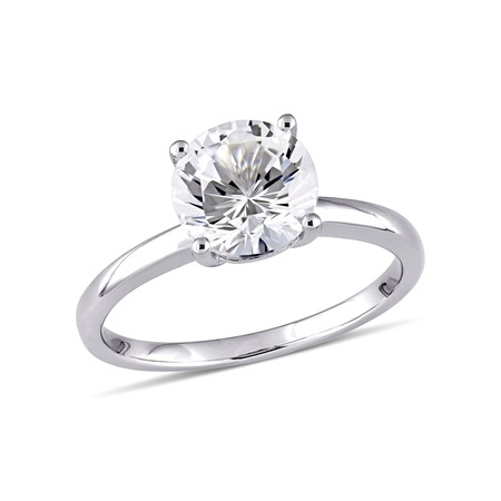 - 2-3/8 Carat T.W. Created White Sapphire 10kt White Gold Solitaire Engagement Ring