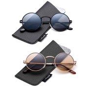 407089160 Retro Round Small 48mm Vintage Hippie Round Polaroid Sunglasses Driving  Polarized Glasses Steampunk John Lennon Sunglasses