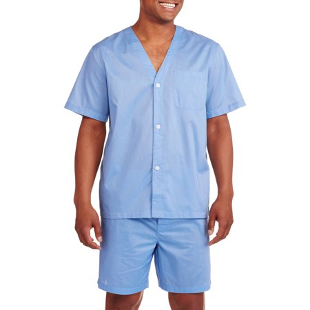 Fruit of the Loom Men's Short Sleeve, Knee-Length Pant Solid Pajama Set](Mens Character Pajamas)