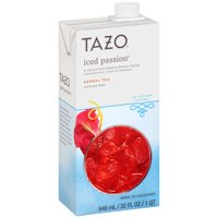 (2 Pack) Tazo Herbal Tea Concentrate, Iced Passion, 32 Fl Oz, 1 Count