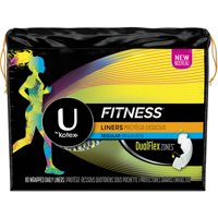 U by Kotex Fitness Panty Liners, Light Absorbency, Regular, Unscented (Choose Count)