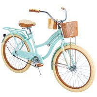 """Huffy 24"""" Nel Lusso Girls' Cruiser Bike with Perfect Fit Frame, Mint Green"""