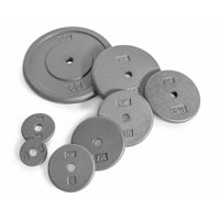 CAP Barbell 1-Inch Standard Cast Iron Weight Plate, Assorted Colors