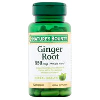 Nature's Bounty Ginger Root Capsules, 550mg, 100 count