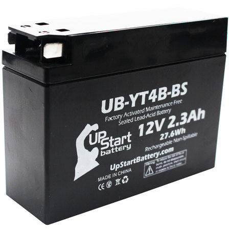 Replacement 2006 Yamaha TTR50E 50CC Factory Activated, Maintenance Free, Motorcycle Battery - 12V, 2.3Ah, UB-YT4B-BS ()