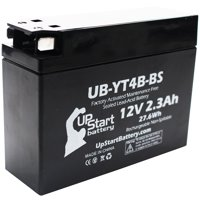Replacement 2012 Yamaha TTR110E 110CC Factory Activated, Maintenance Free, Motorcycle Battery - 12V, 2.3Ah, UB-YT4B-BS