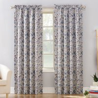 Sun Zero Isabella Floral Print Room Darkening Rod Pocket Curtain Panel