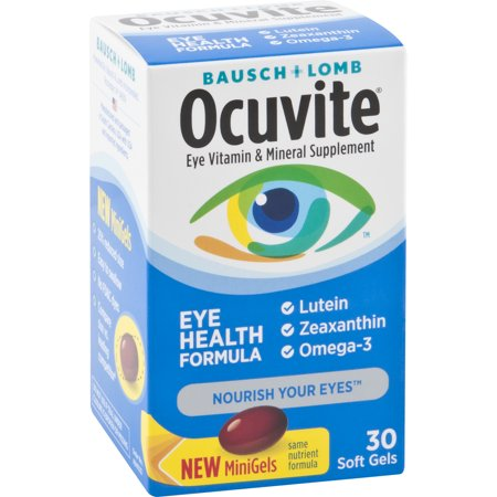 Ocuvite Eye Vitamin & Mineral Supplement Soft Gels, 30
