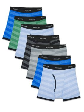 Assorted Cotton Boxer Briefs, 7 Pack (Little Boys & Big Boys)