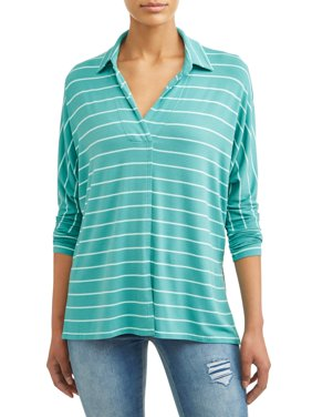 Women's Soft Knit Popover Top