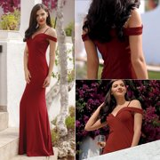 e16927b4a9a2 Ever-Pretty Women's Sexy Off Shoulder Long Formal Evening Ball Gown  Cocktail Party Bridesmaid Dresses