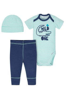 Product Image Onesies Bodysuit, Pants and Cap, 3pc Outfit Set (Baby Boys)