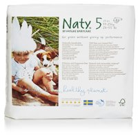 Naty by Nature Babycare Eco-Friendly Diapers (Choose Size and Count) - Premium Disposable Diapers for Sensitive Skin