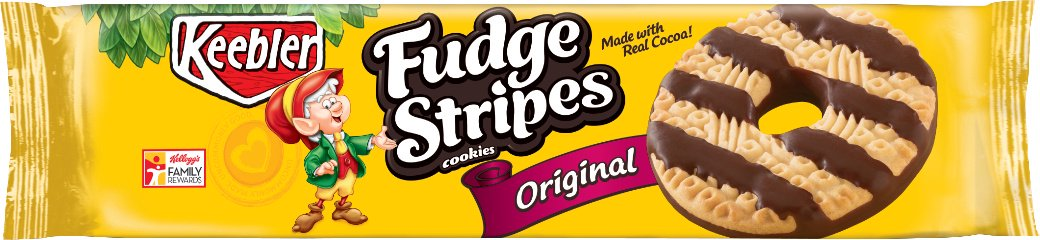 (2 Pack) Keebler Fudge Stripes Original Cookies 11.5 oz