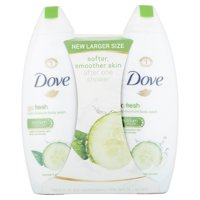 Dove go fresh Cucumber and Green Tea, Sulfate Free Body Wash, 22 oz, Twin Pack