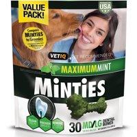 Minties Teeth Cleaner Dental Dog Treats Medium/Large, 30 count