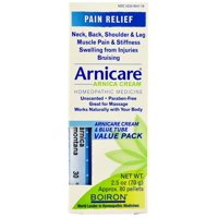 Boiron Arnicare Pain Relief Cream, 2.5 Oz, Value Pack with Arnica montana 30C Tube