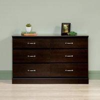 Sauder Parklane Contemporary 6-Drawer Dresser, Espresso Finish