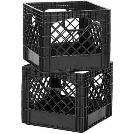 Buddeez Classic Milk Storage Crate, (Black Crate)