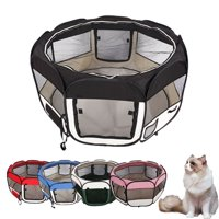 """UBesGoo 45"""" Kennel Pet Fence Puppy Soft Oxford Playpen Exercise Pen Folding Crate 5 Color"""