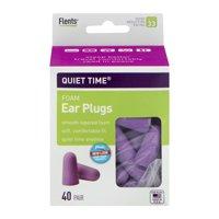 Flents Quiet Time Comfort Foam Ear Plugs, 40 pr