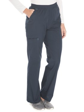 Scrubstar Women's Core Essentials Stretch Poplin Color-Pop Pull-On Scrub Pant
