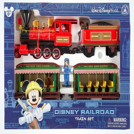 disney mickey & friends walt disney world railroad train playset new with -
