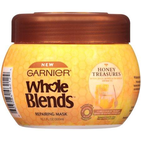 Extra Rich Conditioning Mask - Garnier Whole Blends Honey Treasures Repairing Mask, 10.1 fl oz