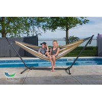 Vivere Double Hammock with Stand Combo, Desert Moon