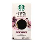 Starbucks VIA Instant French Roast Dark Roast Coffee (1 box of 8 packets)